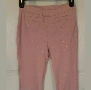 Girl's GAP pink sparkle leggings size XXL